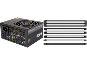 Thermaltake Toughpower SFX/ATX 600W SLI/CrossFire Ready Continuous Power 12V 3.3/ATX 12V 2.4 80 PLUS GOLD Certified Fully Modular Power Supply Skylake C6/C7 Ready PS-STP-0600FPCGUS-G and Thermaltake AC-048-CN1NAN-A1 11.81 in. (30 cm) TtMod