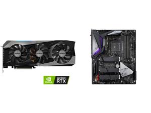 GIGABYTE Gaming GeForce RTX 3070 Ti 8GB GDDR6X PCI Express 4.0 ATX Video Card GV-N307TGAMING OC-8GD and GIGABYTE B550 AORUS MASTER AM4 AMD B550 ATX Motherboard with Triple M.2 SATA 6Gb/s USB 3.2 Gen 2 WIFI 6 2.5 GbE LAN PCIe 4.0