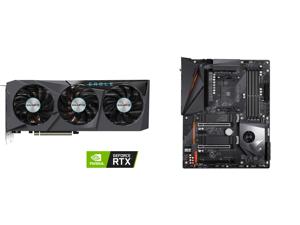 GIGABYTE Eagle GeForce RTX 3070 Ti 8GB GDDR6X PCI Express 4.0 ATX Video Card GV-N307TEAGLE-8GD and GIGABYTE X570 AORUS PRO WIFI AMD Ryzen 3000 PCIe 4.0 SATA 6Gb/s USB 3.2 AMD X570 ATX Motherboard