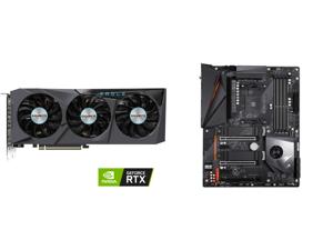GIGABYTE Eagle GeForce RTX 3070 8GB GDDR6 PCI Express 4.0 ATX Video Card GV-N3070EAGLE OC-8GD (rev. 2.0) and GIGABYTE X570 AORUS PRO WIFI AMD Ryzen 3000 PCIe 4.0 SATA 6Gb/s USB 3.2 AMD X570 ATX Motherboard