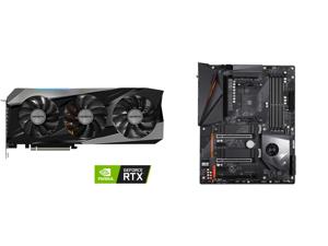 GIGABYTE Gaming GeForce RTX 3070 Ti 8GB GDDR6X PCI Express 4.0 ATX Video Card GV-N307TGAMING OC-8GD and GIGABYTE X570 AORUS PRO WIFI AMD Ryzen 3000 PCIe 4.0 SATA 6Gb/s USB 3.2 AMD X570 ATX Motherboard