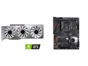 GIGABYTE Vision GeForce RTX 3070 Ti 8GB GDDR6X PCI Express 4.0 ATX Video Card GV-N307TVISION OC-8GD and GIGABYTE X570 AORUS PRO WIFI AMD Ryzen 3000 PCIe 4.0 SATA 6Gb/s USB 3.2 AMD X570 ATX Motherboard