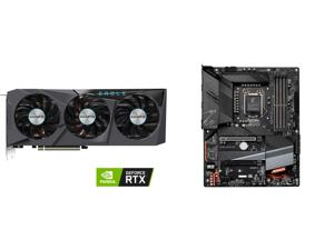GIGABYTE Eagle GeForce RTX 3070 Ti 8GB GDDR6X PCI Express 4.0 ATX Video Card GV-N307TEAGLE-8GD and GIGABYTE Z590 AORUS ELITE LGA 1200 Intel Z590 ATX Motherboard with Triple M.2 PCIe 4.0 USB 3.2 Gen2X2 Type-C 2.5GbE LAN