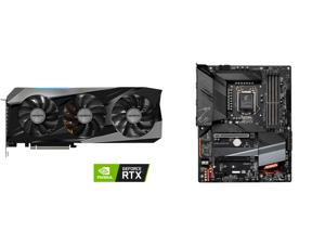 GIGABYTE Gaming GeForce RTX 3070 Ti 8GB GDDR6X PCI Express 4.0 ATX Video Card GV-N307TGAMING OC-8GD and GIGABYTE Z590 AORUS ELITE LGA 1200 Intel Z590 ATX Motherboard with Triple M.2 PCIe 4.0 USB 3.2 Gen2X2 Type-C 2.5GbE LAN