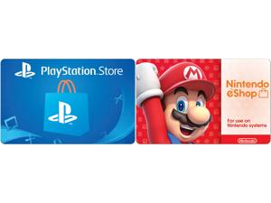 PlayStation Store $50 Gift Card + Nintendo eShop $50 Gift Card