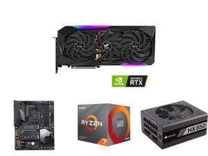 GIGABYTE AORUS GeForce RTX 3070 Ti 8GB GDDR6X PCI Express 4.0 ATX Video Card GV-N307TAORUS M-8GD and GIGABYTE X570 AORUS ELITE WIFI AM4 AMD X570 SATA 6Gb/s ATX AMD Motherboard and AMD Ryzen 7 3rd Gen - RYZEN 7 3700X Matisse (Zen 2) 8-Core 3
