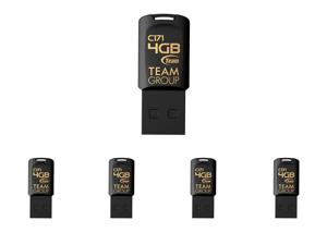 5 x Team Group 4GB C171 USB 2.0 Flash Drive (TC1714GB01)