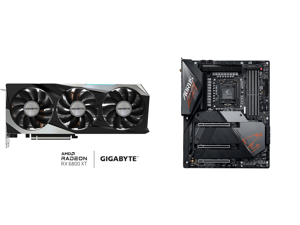 GIGABYTE Radeon RX 6800 XT GAMING OC 16G Graphics Card WINDFORCE 3X Cooling System 16GB 256-bit GDDR6 GV-R68XTGAMING OC-16GD Video Card Powered by AMD RDNA 2 HDMI 2.1 and GIGABYTE Z590 AORUS MASTER LGA 1200 Intel Z590 ATX Motherboard with T