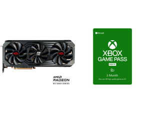 PowerColor Red Devil AMD Radeon RX 6900 XT Ultimate Gaming Graphics Card with 16GB GDDR6 Memory Powered by AMD RDNA 2 HDMI 2.1 (AXRX 6900XTU 16GBD6-3DHE/OC) and Xbox Game Pass for PC 3 Month Membership US [Digital Code]