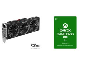 XFX Speedster MERC 319 AMD Radeon RX 6900 XT Black Gaming Graphics Card with 16GB GDDR6 HDMI 2 x DP USB-C AMD RDNA 2 RX-69XTACBD9 and Xbox Game Pass for PC 3 Month Membership US [Digital Code]