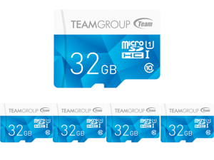 5 x Team Group 32GB Color microSDHC UHS-I/U1 Class 10 Memory Card with Adapter Speed Up to 80MB/s (TCUSDH32GUHS40)