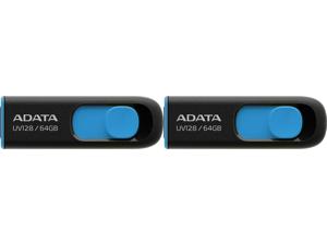 2 x ADATA 64GB UV128 USB 3.2 Gen 1 Flash Drive (AUV128-64G-RBE)