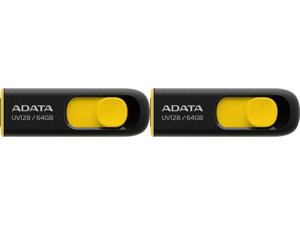 2 x ADATA 64GB UV128 USB 3.2 Gen 1 Flash Drive (AUV128-64G-RBY)