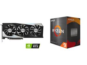 GIGABYTE Gaming GeForce RTX 3060 12GB GDDR6 PCI Express 4.0 ATX Video Card GV-N3060GAMING OC-12GD (rev. 2.0) and AMD Ryzen 9 5950X - Ryzen 9 5000 Series Vermeer (Zen 3) 16-Core 3.4 GHz Socket AM4 105W Desktop Processor - 100-100000059WOF