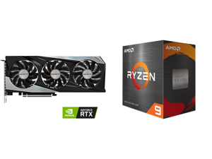 GIGABYTE Gaming GeForce RTX 3060 Ti 8GB GDDR6 PCI Express 4.0 ATX Video Card GV-N306TGAMINGOC PRO-8GD (rev. 3.0) and AMD Ryzen 9 5950X - Ryzen 9 5000 Series Vermeer (Zen 3) 16-Core 3.4 GHz Socket AM4 105W Desktop Processor - 100-100000059WO