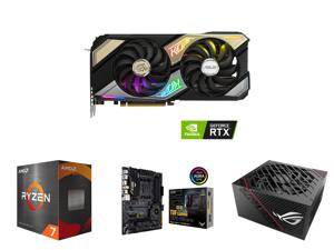 ASUS KO NVIDIA GeForce RTX 3070 V2 OC Edition 8GB GDDR6 Gaming Graphics Card (PCIe 4.0 8GB GDDR6 LHR HDMI 2.1 DisplayPort 1.4a Axial-tech Fan Design 0dB Technology Enduring Capacitors) and AMD Ryzen 7 5800X - Ryzen 7 5000 Series Vermeer (Ze