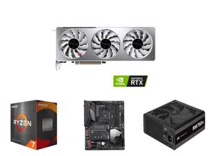 GIGABYTE Vision GeForce RTX 3070 8GB GDDR6 PCI Express 4.0 ATX Video Card GV-N3070VISION OC-8GD (rev. 2.0) and AMD Ryzen 7 5800X - Ryzen 7 5000 Series Vermeer (Zen 3) 8-Core 3.8 GHz Socket AM4 105W Desktop Processor - 100-100000063WOF and G