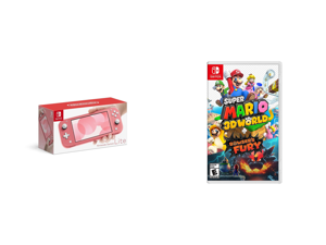 Nintendo Switch Lite - Coral and Super Mario 3D World-Bowser's Fury - Nintendo Switch