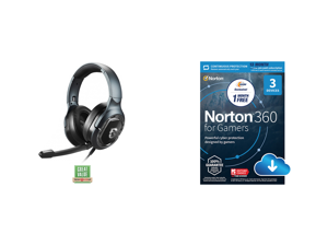 MSI IMMERSE GH50 Gaming Headset and NortonLifeLock Norton 360 for Gamers - Multi-layered protection for PCs - Includes Game Optimizer Gamer tag monitoring Secure VPN and PC Cloud Backup - 13 Months [Download]