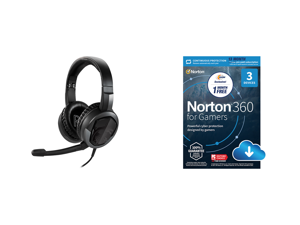 MSI Immerse GH30 V2 Circumaural Headset and NortonLifeLock Norton 360 for Gamers - Multi-layered protection for PCs - Includes Game Optimizer Gamer tag monitoring Secure VPN and PC Cloud Backup - 13 Months [Download]