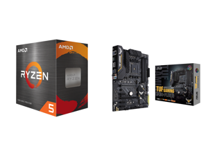 AMD Ryzen 5 5600X - Ryzen 5 5000 Series Vermeer (Zen 3) 6-Core 3.7 GHz Socket AM4 65W Desktop Processor - 100-100000065BOX and ASUS TUF GAMING B450-PLUS II AM4 AMD B450 SATA 6Gb/s ATX AMD Motherboard