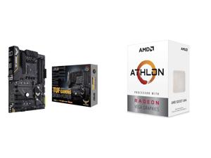 ASUS TUF GAMING B450-PLUS II AM4 AMD B450 SATA 6Gb/s ATX AMD Motherboard and AMD Athlon 3000G Picasso (Zen+) 3.5GHz Dual-Core Unlocked OC AM4 Processor with Vega 3 Graphics