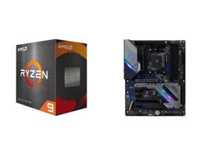 AMD Ryzen 9 5950X - Ryzen 9 5000 Series Vermeer (Zen 3) 16-Core 3.4 GHz Socket AM4 105W Desktop Processor - 100-100000059WOF and ASRock X570 EXTREME4 AM4 AMD X570 SATA 6Gb/s ATX AMD Motherboard