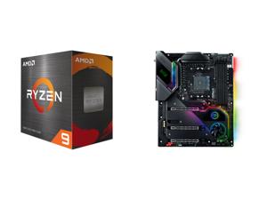 AMD Ryzen 9 5950X - Ryzen 9 5000 Series Vermeer (Zen 3) 16-Core 3.4 GHz Socket AM4 105W Desktop Processor - 100-100000059WOF and ASRock X570 TAICHI RAZER Edition AM4 AMD X570 SATA 6Gb/s ATX AMD Motherboard