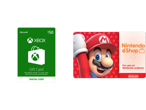 Xbox Gift Card $50 US (Email Delivery) and Nintendo eShop $50 Gift Cards (Email Delivery)