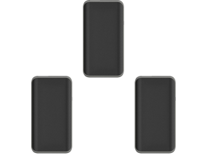 3 x Powerstation PD 6700 mAh Portable Charger for Most Devices - Black