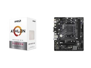 AMD Athlon 3000G Picasso (Zen+) 3.5GHz Dual-Core Unlocked OC AM4 Processor with Vega 3 Graphics and ASRock A520M-HDV AM4 AMD A520 SATA 6Gb/s Micro ATX AMD Motherboard