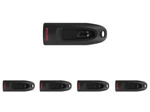 5 x SanDisk 32GB Ultra CZ48 USB 3.0 Flash Drive Speed Up to 100MB/s (SDCZ48-032G-UAM46)