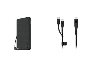Mophie Powerstation Plus Lightning 6000 mAh Slate Gray and Mophie 3613_PRO-2.0-CC-2M-B Pro Cable Black USB2.0 C-C 6.56 ft. (2m)