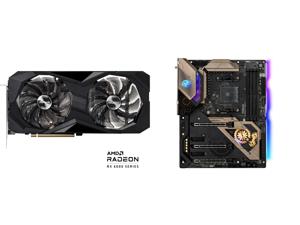ASRock Challenger D Radeon RX 6600 XT 8GB GDDR6 PCI Express 4.0 Video Card RX6600XT CLD 8GO and ASRock B550 TAICHI AM4 AMD B550 SATA 6Gb/s ATX AMD Motherboard