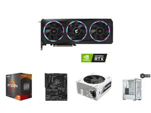 GIGABYTE AORUS GeForce RTX 3060 Ti 8GB GDDR6 PCI Express 4.0 ATX Video Card GV-N306TAORUS E-8GD (rev. 2.0) and AMD Ryzen 7 5800X - Ryzen 7 5000 Series Vermeer (Zen 3) 8-Core 3.8 GHz Socket AM4 105W Desktop Processor - 100-100000063WOF and G