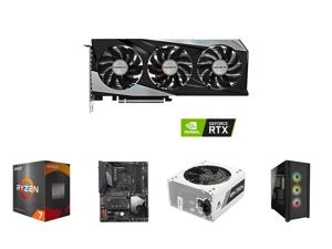 GIGABYTE Gaming GeForce RTX 3060 Ti 8GB GDDR6 PCI Express 4.0 ATX Video Card GV-N306TGAMINGOC PRO-8GD (rev. 3.0) and AMD Ryzen 7 5800X - Ryzen 7 5000 Series Vermeer (Zen 3) 8-Core 3.8 GHz Socket AM4 105W Desktop Processor - 100-100000063WOF
