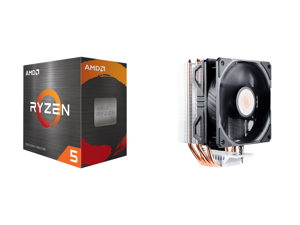 AMD Ryzen 5 5600X - Ryzen 5 5000 Series Vermeer (Zen 3) 6-Core 3.7 GHz Socket AM4 65W Desktop Processor - 100-100000065BOX and Cooler Master Hyper 212 EVO V2 CPU Air Cooler with SickleFlow 120 PWM Fan Direct Contact Technology 4 copper Heat