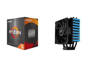AMD Ryzen 5 5600X - Ryzen 5 5000 Series Vermeer (Zen 3) 6-Core 3.7 GHz Socket AM4 65W Desktop Processor - 100-100000065BOX and LEPA NEOllusion RGB High Performance 200W+ TDP 4 Heat pipes 120mm PWM Fan Aluminum Fins for AMD Ryzen AM4 / Intel