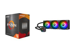 AMD Ryzen 5 5600X - Ryzen 5 5000 Series Vermeer (Zen 3) 6-Core 3.7 GHz Socket AM4 65W Desktop Processor - 100-100000065BOX and Thermaltake TH360 ARGB Motherboard Sync Edition Intel/AMD All-in-One Liquid Cooling System 360mm High Efficiency
