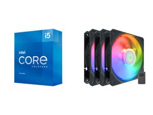 Intel Core i5-11600K - Core i5 11th Gen Rocket Lake 6-Core 3.9 GHz LGA 1200 125W Intel UHD Graphics 750 Desktop Processor - BX8070811600K and Cooler Master SickleFlow 120 V2 Addressable RGB 3 in 1 Square Frame Fan Individually Customizable