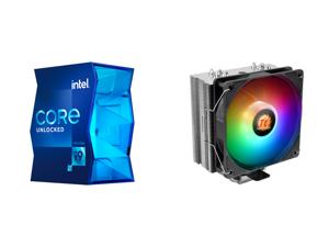 Intel Core i9-11900K - Core i9 11th Gen Rocket Lake 8-Core 3.5 GHz LGA 1200 125W Intel UHD Graphics 750 Desktop Processor - BX8070811900K and Thermaltake UX210 5V Motherboard ARGB Sync 16.8 Million Colors 10 Addressable LED Intel/AMD Univer