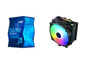 Intel Core i9-11900K - Core i9 11th Gen Rocket Lake 8-Core 3.5 GHz LGA 1200 125W Intel UHD Graphics 750 Desktop Processor - BX8070811900K and Enermax ETS-F40 Addressable RGB CPU Air Cooler 200W+ TDP for Intel/AMD Universal Socket 4 Direct C