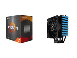 AMD Ryzen 7 5800X - Ryzen 7 5000 Series Vermeer (Zen 3) 8-Core 3.8 GHz Socket AM4 105W Desktop Processor - 100-100000063WOF and LEPA NEOllusion RGB High Performance 200W+ TDP 4 Heat pipes 120mm PWM Fan Aluminum Fins for AMD Ryzen AM4 / Inte