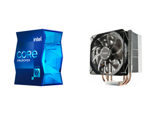 Intel Core i9-11900K - Core i9 11th Gen Rocket Lake 8-Core 3.5 GHz LGA 1200 125W Intel UHD Graphics 750 Desktop Processor - BX8070811900K and Enermax ETS-T40 Fit 120mm CPU Air Cooler 200W TDP 4 Direct Contact Heat Pipes 120mm Silent PWM Fan