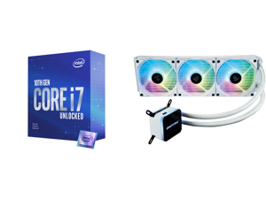 Intel Core i7-10700KF - Core i7 10th Gen Comet Lake 8-Core 3.8 GHz LGA 1200 125W Desktop Processor - BX8070110700KF and Enermax LIQMAX III ARGB 360 Addressable RGB All-in-one CPU Liquid Cooler for AM4 / LGA1200 360mm Radiator Dual-Chamber W