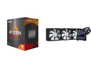 AMD Ryzen 7 5800X - Ryzen 7 5000 Series Vermeer (Zen 3) 8-Core 3.8 GHz Socket AM4 105W Desktop Processor - 100-100000063WOF and Phanteks Glacier One 360MP D-RGB AIO Liquid CPU Cooler Infinity Mirror Pump Cap Design 3x Silent 120mm MP PWM Fa