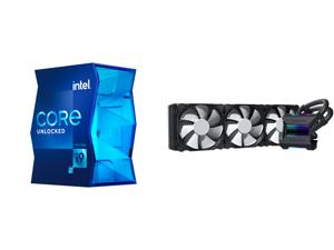 Intel Core i9-11900K - Core i9 11th Gen Rocket Lake 8-Core 3.5 GHz LGA 1200 125W Intel UHD Graphics 750 Desktop Processor - BX8070811900K and Phanteks Glacier One 360MP D-RGB AIO Liquid CPU Cooler Infinity Mirror Pump Cap Design 3x Silent 1