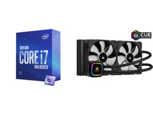 Intel Core i7-10700KF - Core i7 10th Gen Comet Lake 8-Core 3.8 GHz LGA 1200 125W Desktop Processor - BX8070110700KF and CORSAIR iCUE H115i RGB PRO XT 280mm Radiator Dual 140mm PWM Fans Software Control Liquid CPU Cooler CW-9060044-WW