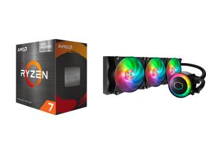 AMD Ryzen 7 5700G - Ryzen 7 5000 G-Series Cezanne (Zen 3) 8-Core 3.8 GHz Socket AM4 65W AMD Radeon Graphics Desktop Processor - 100-100000263BOX and Cooler Master MasterLiquid ML360R ARGB Close-Loop AIO CPU Liquid Cooler 360 Radiator Dual C