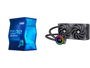 Intel Core i9-11900K - Core i9 11th Gen Rocket Lake 8-Core 3.5 GHz LGA 1200 125W Intel UHD Graphics 750 Desktop Processor - BX8070811900K and Thermaltake TOUGHLIQUID CL-W319-PL12BL-A Water Cooler